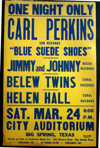 Carl perkins 1956 back to gallery